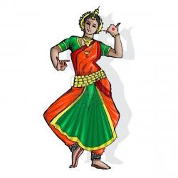 Indian clipart traditional dance