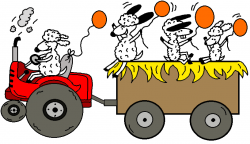 Cart clipart hay ride