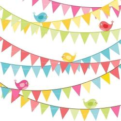 Triangle clipart birthday flag banner