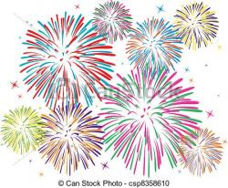 Fireworks clipart vector