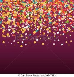 Festival clipart confetti