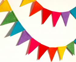 Triangle clipart rainbow banner