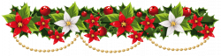 Merry Christmas clipart holiday garland
