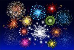 Festival clipart fireworks display