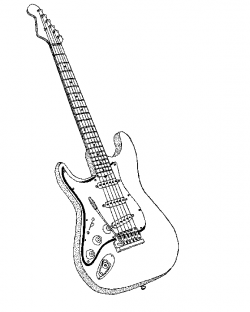 Instrument clipart bass guitar