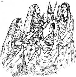 Festival clipart indian folk dance