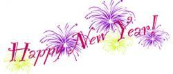 Fun clipart new year firework
