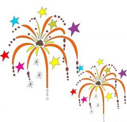 New Year clipart fireworks celebration