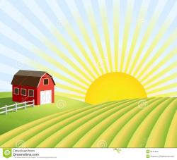 River Landscape clipart farm field