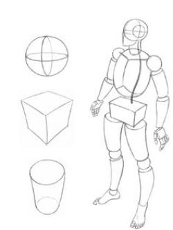Drawn figurine basic