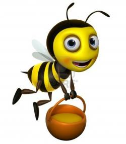 Wasp clipart singing bee