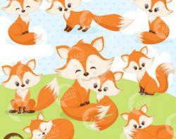 Fox clipart whimsical