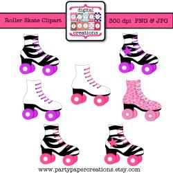 Pink clipart roller skate