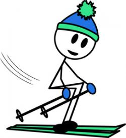 Skiing clipart person skiing