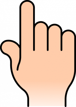 Pointer clipart finger space