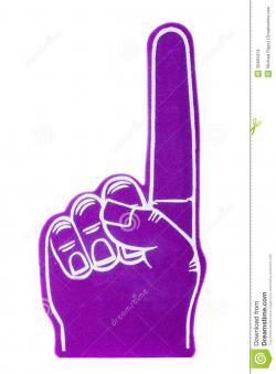 Single clipart foam finger