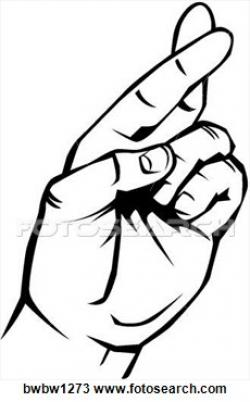 Lies clipart crossed finger