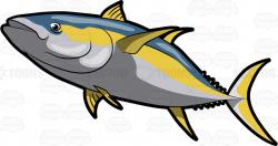 Tuna clipart yellowfin tuna