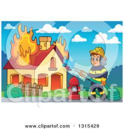 Fire clipart fireman