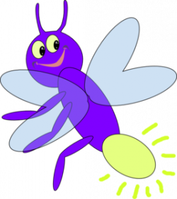 Firefly clipart purple