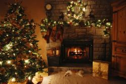 Fireplace clipart background