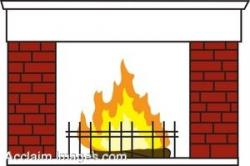 Fireplace clipart border