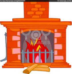 Fireplace clipart brick fireplace