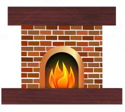 Heat clipart log fire