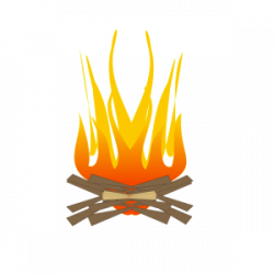 Fireplace clipart cooking fire