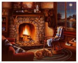 Fireplace clipart cozy
