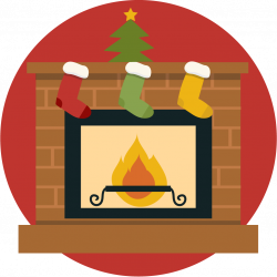 Fireplace clipart cute