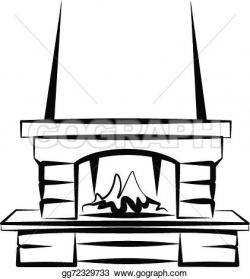 Fireplace clipart drawn