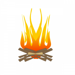 Fireplace clipart fire burning