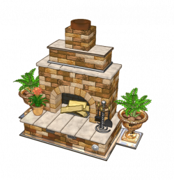 Fireplace clipart garden