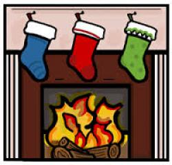 Fireplace clipart holiday