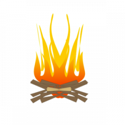Fireplace clipart log fire