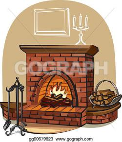 Fireplace clipart nativity