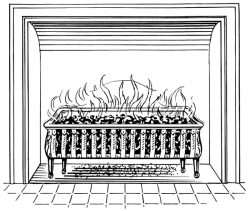 Fireplace clipart old fashioned