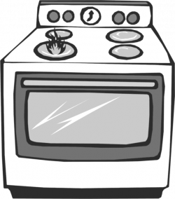 Gas Cooker clipart open oven