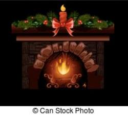 Fireplace clipart unlit