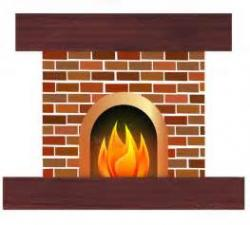 Fireplace clipart vintage