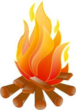Bonfire clipart campfire