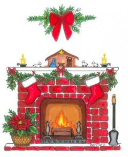 Fireplace clipart xmas