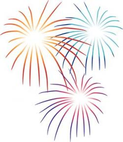 New Year clipart colorful firework