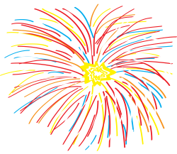 Fireworks clipart abstract