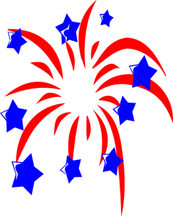 Fireworks clipart american star