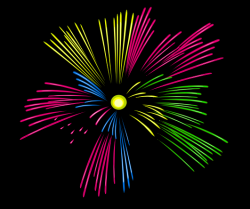 Moving clipart firework