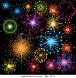 Fireworks clipart bright