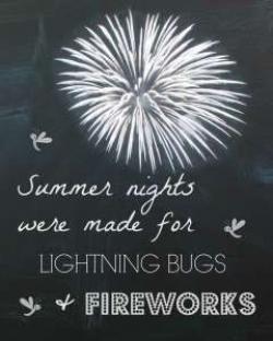 Fireworks clipart chalkboard