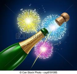 Fireworks clipart champagne